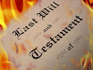 A burning last will and testament